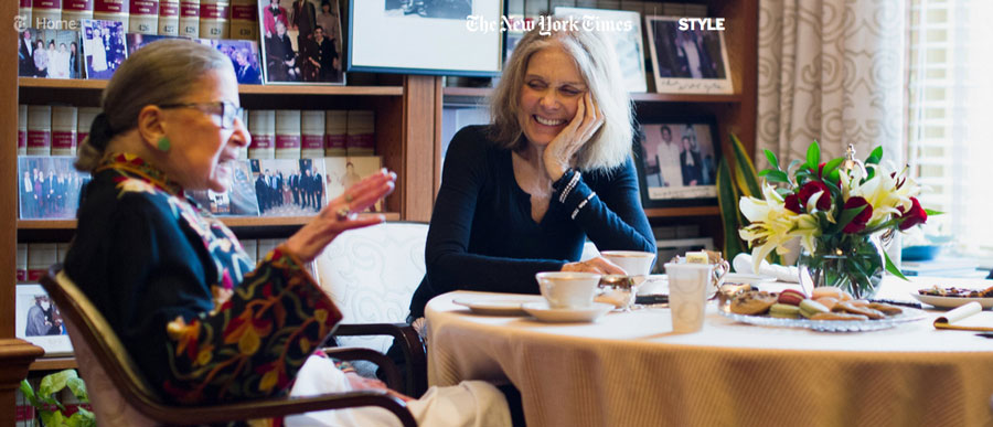 Feminist trailblazers and longtime friends, Ruth Bader Ginsburg and Gloria Steinem recently sat down with New York Times writer Phillip Gaines