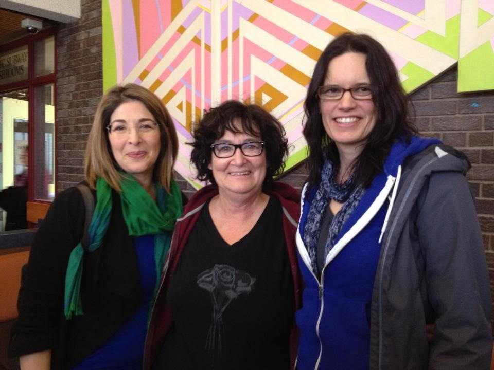 Judy Rebick (centre) with activists Naomi Klein (left) and and Leanne Betsamosake Simpson (Right)