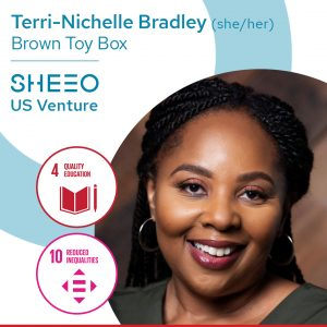 picture of black woman entrepreneur, Terri-Nichelle Bradley, founder of Brown Toy Box