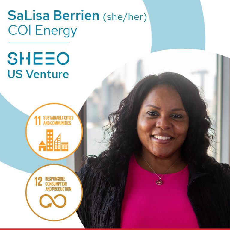 photo of black woman entrepreneur, SaLisa Berrien of COI Energy, SheEO