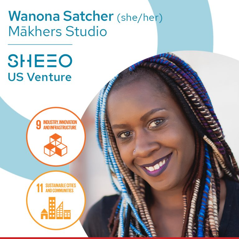Picture of black woman entrepreneur, Wanona Satcher (she/her), founder, Mākhers Studio