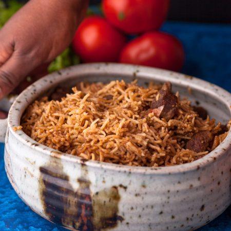 Picture of goat pilau dish