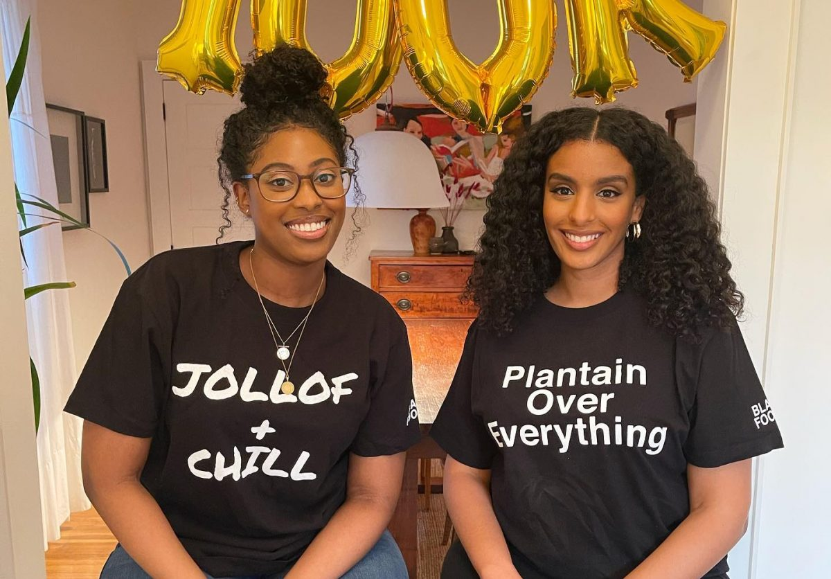 Picture of the CEO and Founder of BLACK FOODIE, two black women in food
