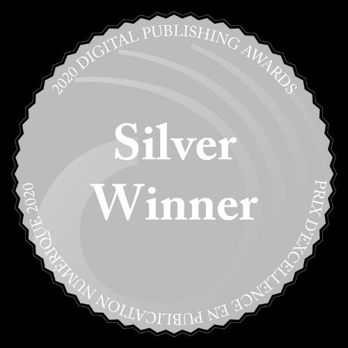 Image of silver medal for 2021 Canadian Digital Publishing Award for Best Editorial Newsletter